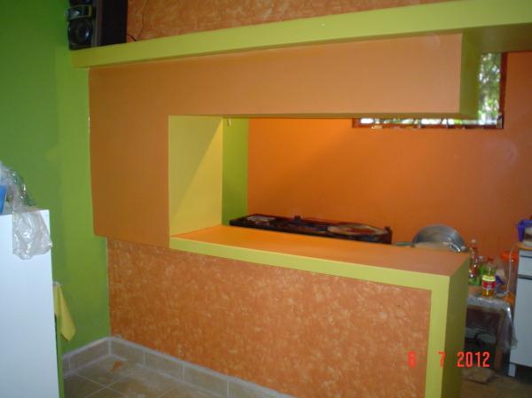 Foto Barra para Supercocina de Tablaroca Home Design