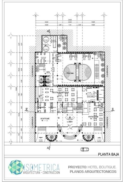 Foto Plano Arquitectonico Hotel de Isometrica 9347