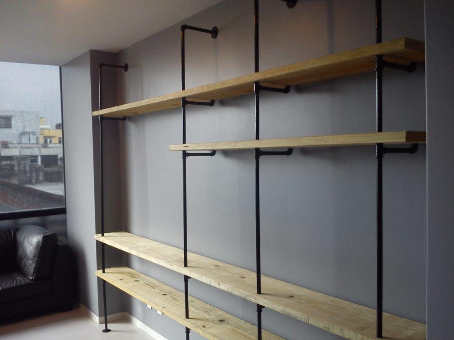 Mueble Tubular y Madera  Ideas Carpinteros