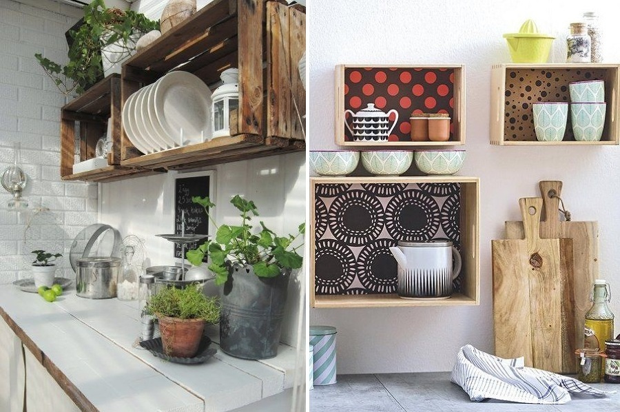 Foto Cajas de Madera para la Cocina 157696  Habitissimo