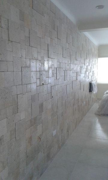 Foto Muro de Cantera Galarza Pulida de Punto Gris 189597
