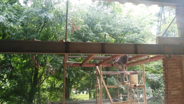 Foto Proceso de Estructura Metalica en Casas de Ahasa