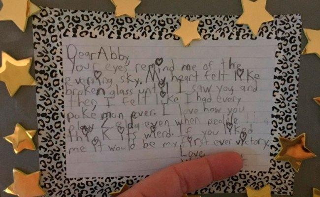 La Carta De Amor Más Romántica Escrita Por Un Niño De