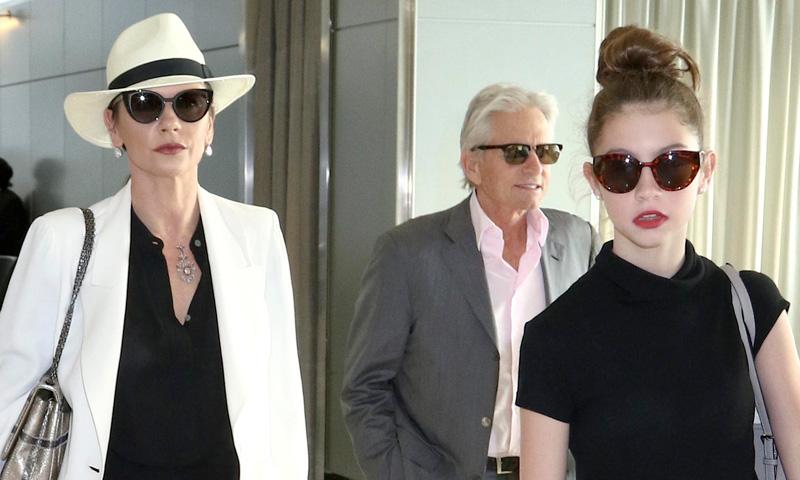La hija de Catherine ZetaJones una digna heredera del estilo y glamour de mam