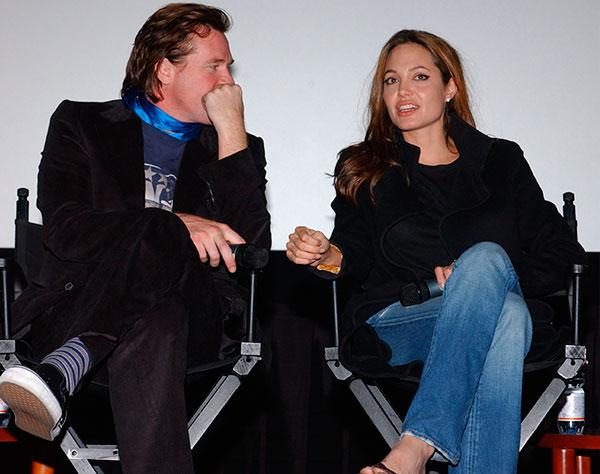 Val Kilmer and Angelina Jolie