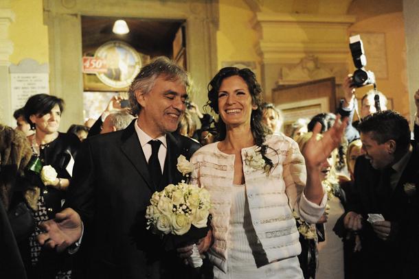 Andrea Bocelli se casa con su novia Vernica Berti tras 12 aos de noviazgo