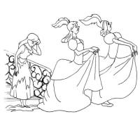 Colorear cuentos: La Cenicienta