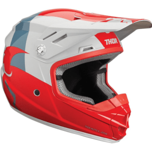 THOR YOUTH M SECTOR RED GREY HELMET