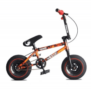 WILDCAT WRAPPED FLAME MINI BMX WITH DISC BRAKE