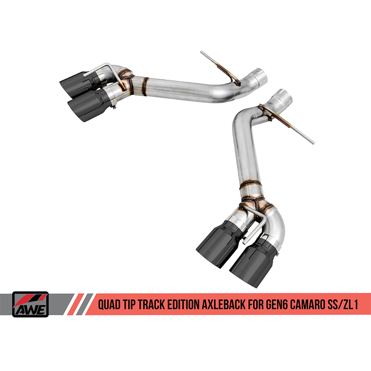 awe tuning track edition axle back exhaust 6th gen camaro ss zl1