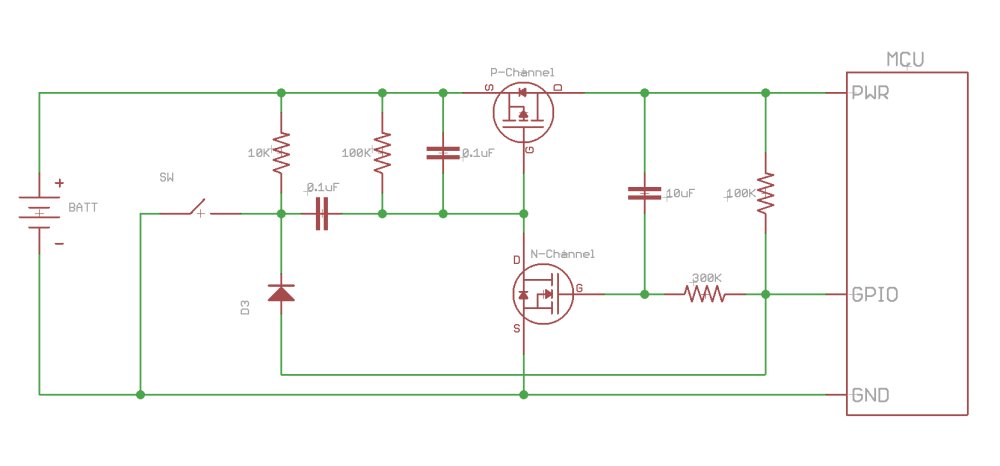medium resolution of when the mcu is ready it can drive the gpio low which will then turn off the circuit