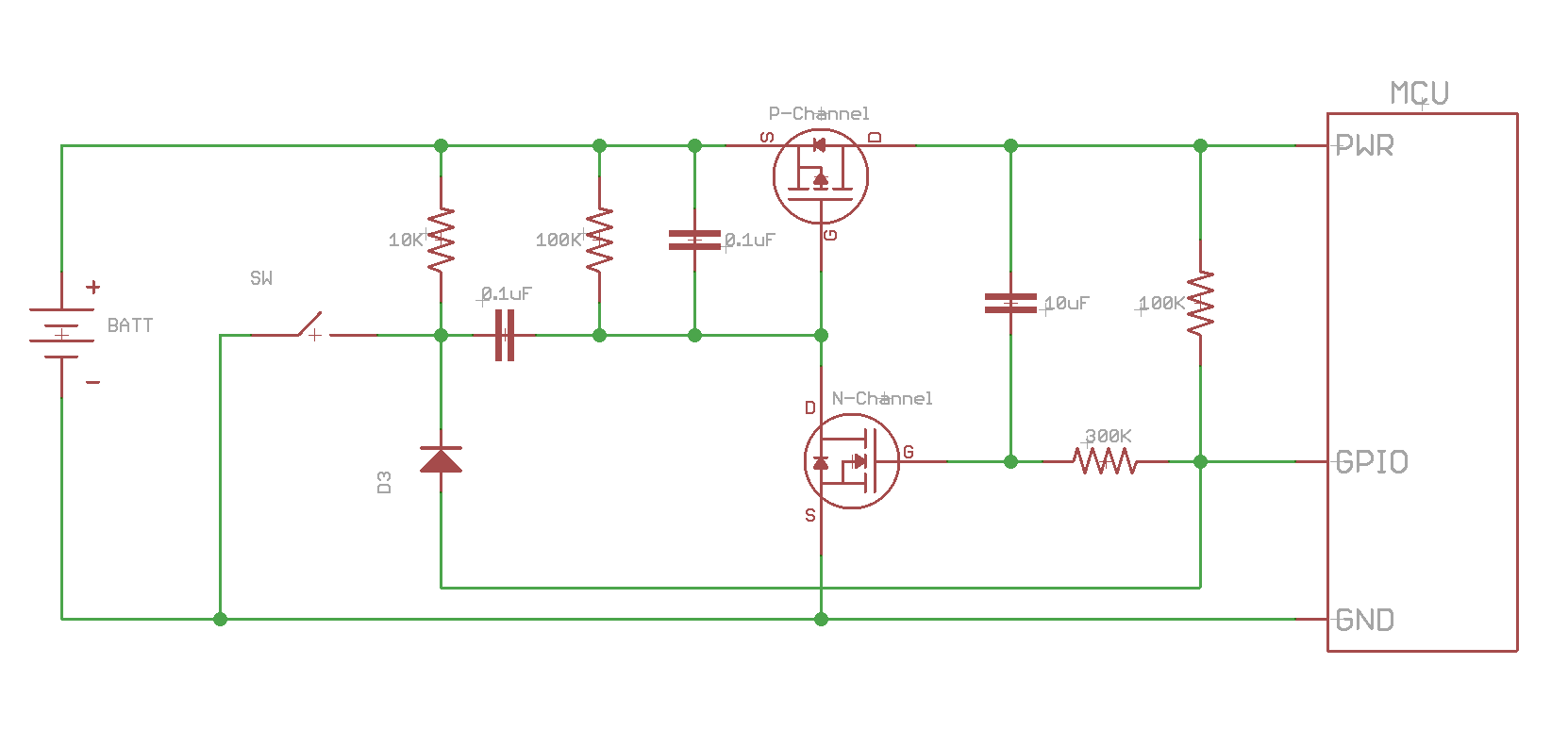 hight resolution of when the mcu is ready it can drive the gpio low which will then turn off the circuit