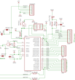 key parts of an arduino and platform integration macrofab arduino circuit board schematics as well arduino uno circuit diagram [ 949 x 921 Pixel ]