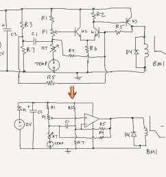 tom anderson s revised a c control module schematic its a op amp comparator circuit [ 2731 x 2048 Pixel ]