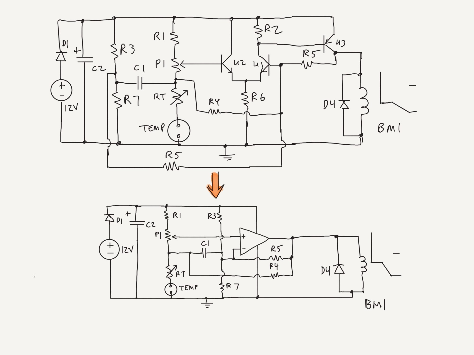 hight resolution of tom anderson s revised a c control module schematic its a op amp comparator circuit