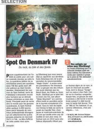 Stor omtale af SPOT On Denmark - bl.a. i ugeavisen Telemoustique. (klik for stor udgave)