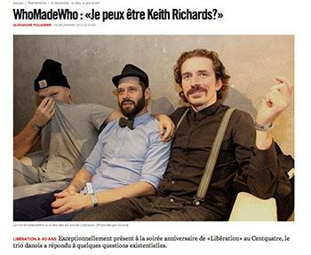 OK - så meget hader  franskmændene dem heller ikke: WhoMadeWho i det store dagblad Libération.