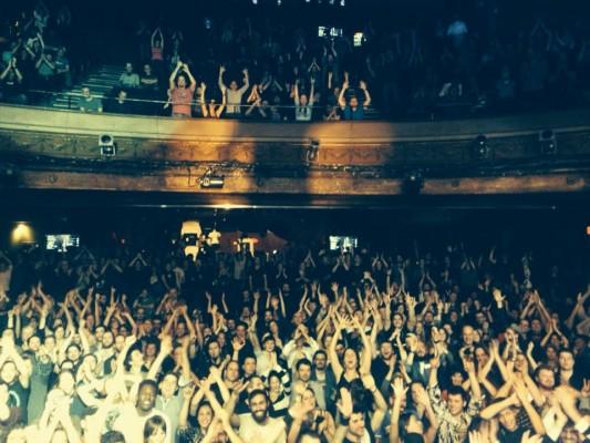 Begejstrede tilskuere i Montreal