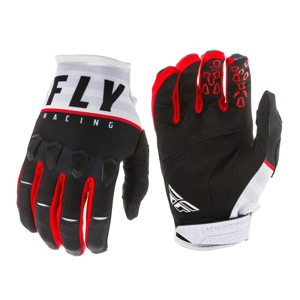 Kinetic K120 Gloves Black/White/Red