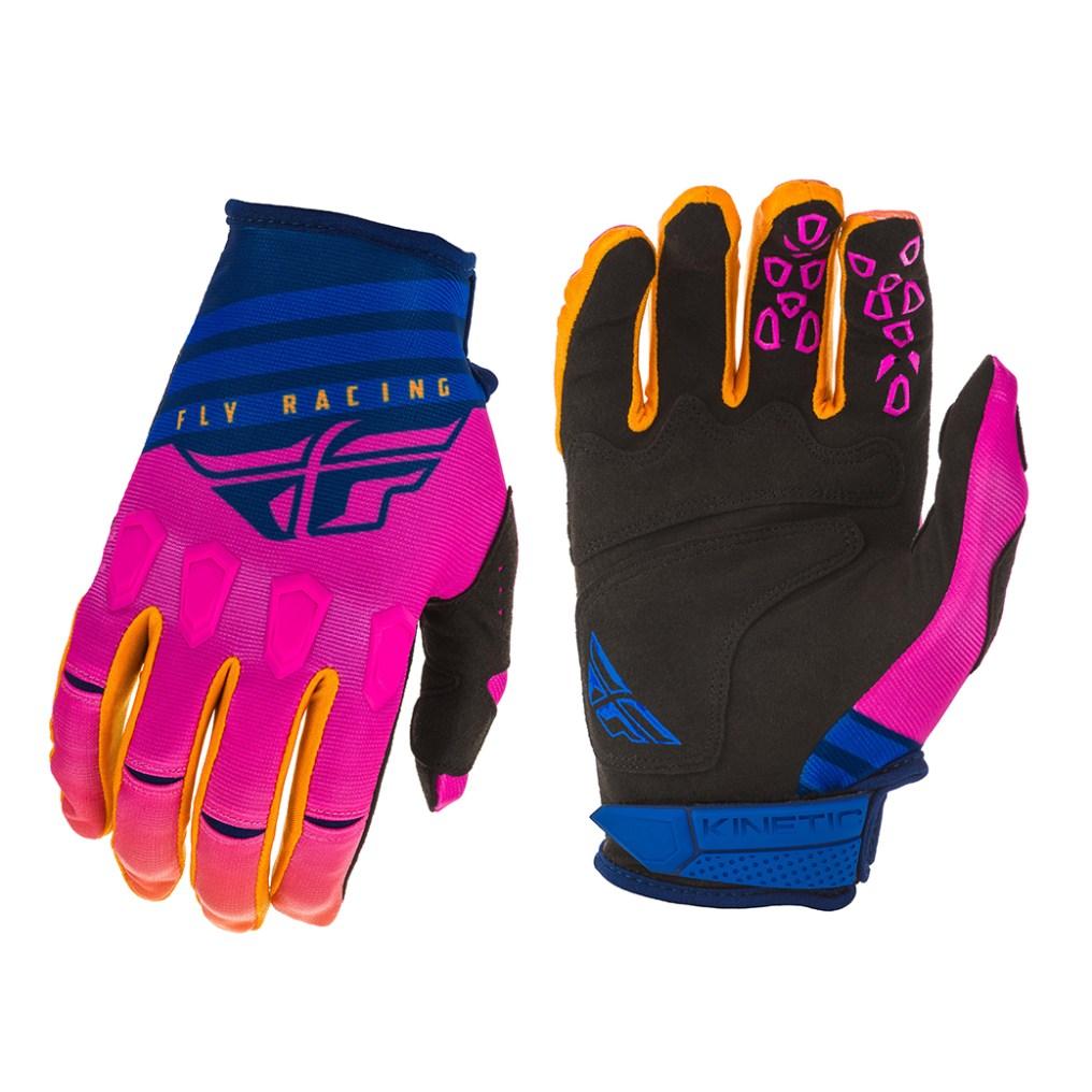 Kinetic K220 Gloves Midnight/Blue/Orange