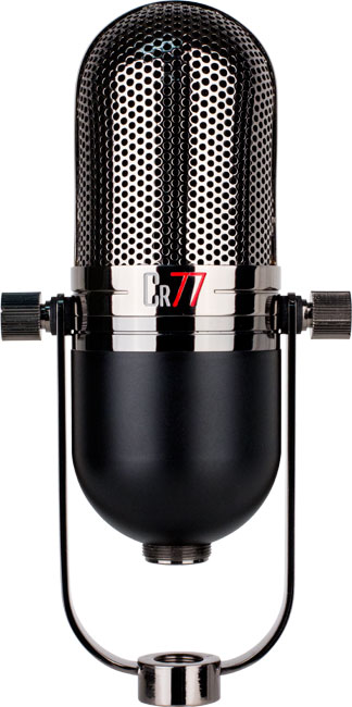 the dual layer body matte black chrome of CR77 mic