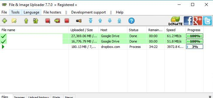 solved upload speed to