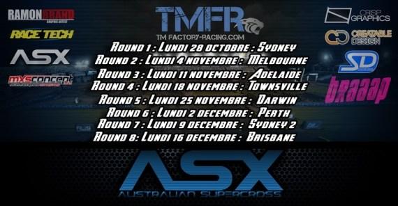 calendrier  championnat SX australien pro mx simulator