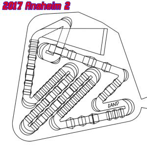 Championnat SX AMA 2017 Round 3 - Anaheim 2 Track Map