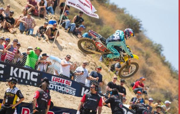 Heartbreak for Roczen in the first moto forced him to settle for second overall.Photo: Simon Cudby