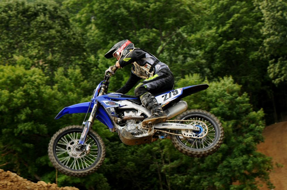 Timmy Crosby posted a pair of moto wins to top the 250 All Star A/B class at the 2019 High Point Motocross Amateur Day.