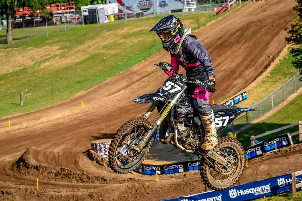 Brandon Nelson won the final moto of the Supermini class to take the overall win.