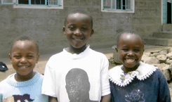 Joseph, Tylon and Evelyn are 3 of the children who live at Mji Wa Neema (House of Hope) orphanage, under the auspices of Fr Kiriti's parish.