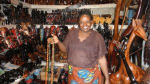 9. Bead lady in her shop