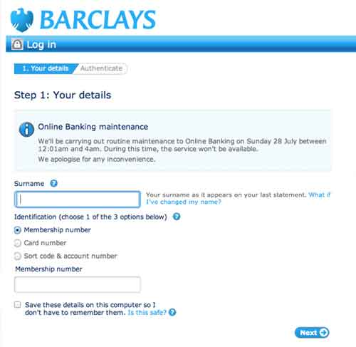 Personal Banking Online Barclays