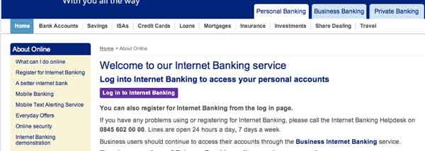 Bank Scotland Online Personal Banking Sign