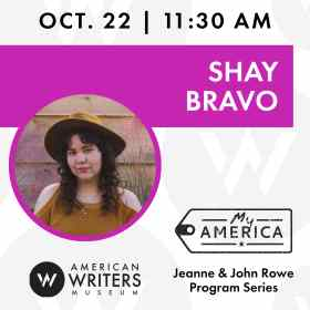 American Writers Museum presents a conversation with Shay Bravo about her new book Historically Inaccurate on October 22 at 11:30 am central