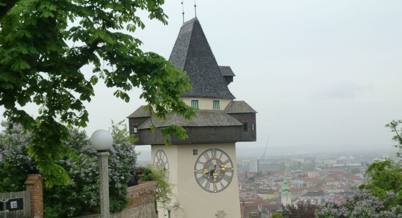 Graz clock tower 3 - Graz: tradition and modernity