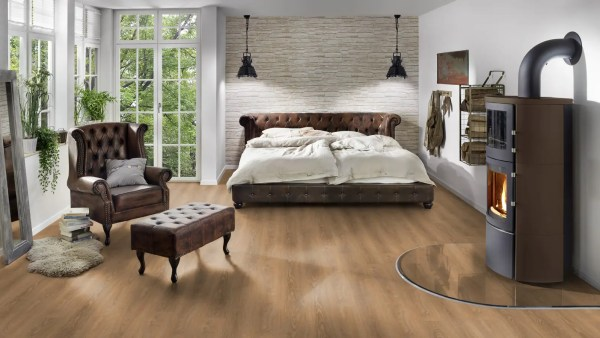 Schlafzimmer mit Project Floors SPC-Core Collection_PW4011