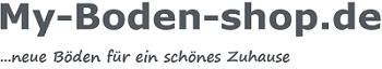 Logo-My-Boden-shop mit slogan neue Böden für ein schönes Zuhause