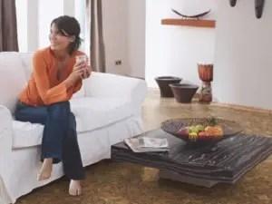 Frau mit Corpet Korkboden JAZZ