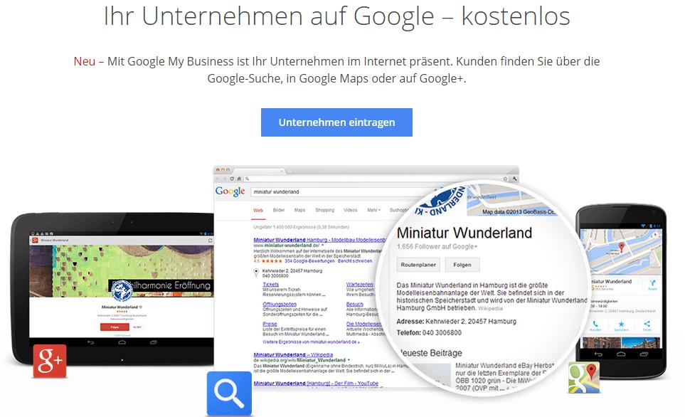 Google Maps Eintrag als kostenlose Werbemöglichkeit im Internet
