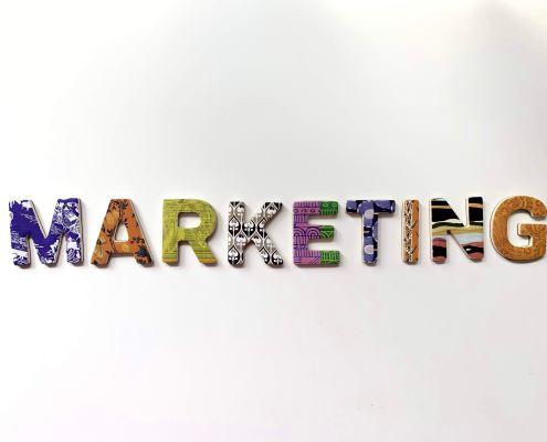 Schriftzug Marketing