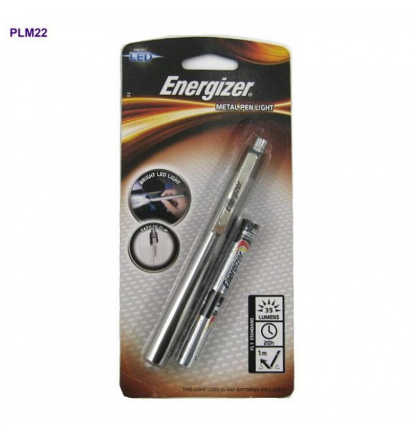 ENERGIZER METAL LED PENLIGHT (TORCH LIGHT) (WITH 2X AAA BATTERIES ) - PLM22 | New PGMall