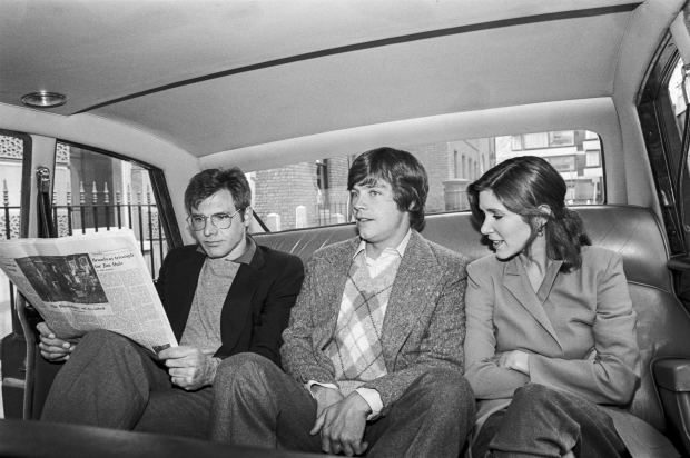 Harrison Ford, Mark Hamill, & Carrie Fisher 1980