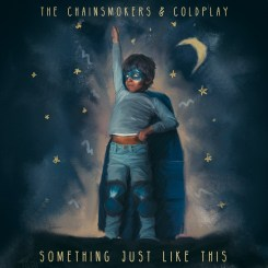 5.老菸槍雙人組(The Chainsmokers)與天團 Coldplay聯手出輯 - 《Something Just Like This》專輯封面(Sony Music Taiwan提供)