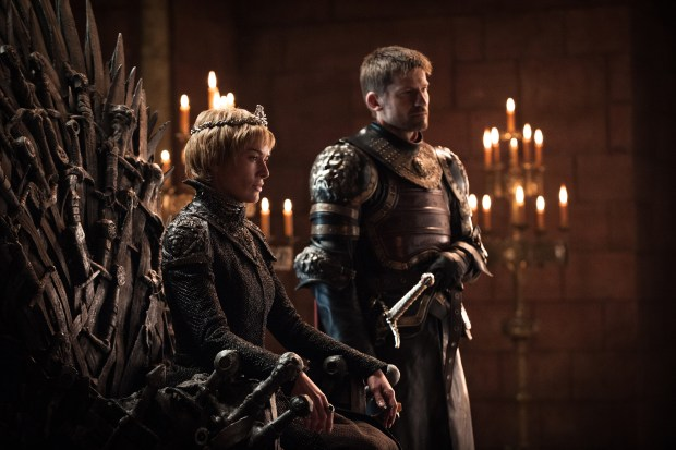 Lena Headey as Cersei Lannister and Nikolaj Coster-Waldau as Jaime Lannister. Credit - Helen Sloan_HBO
