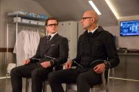 "Taron Egerton, left, and Mark Strong star in Twentieth Century Fox's ""Kingsman: The Golden Circle."""