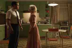 Left to right: Matt Damon as Gardner and Julianne Moore as Margaret in SUBURBICON, from Paramount Pictures and Black Bear Pictures.