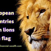 European countries with lions on flag