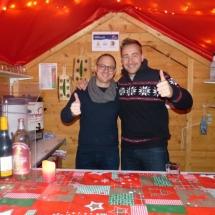 Mitglieder des Ipfmess Fanclubs mögen den Nikolausmarkt in Bopfingen